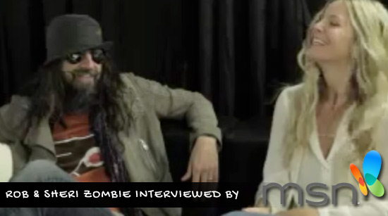 MSN video interview Rob and Sheri Moon Zombie about The Lords of Salem