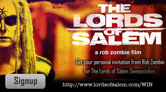 The Lords of Salem sweepstake