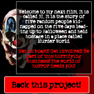 Rob Zombie movie 31 fan crowd funding project