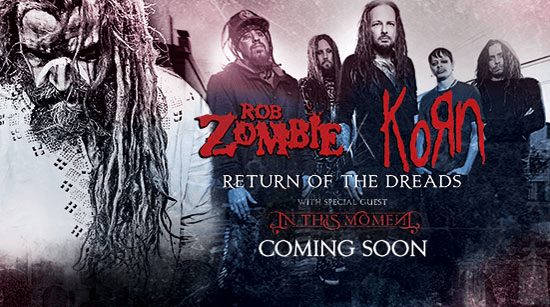 Rob zombie and korn tour dates
