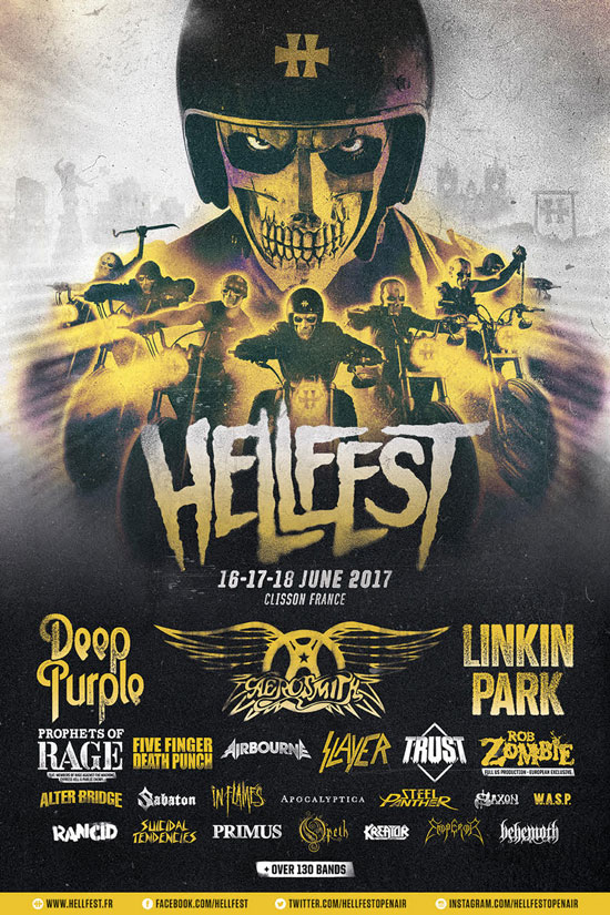 Hellfest 2017 full line-up poster Rob Zombie