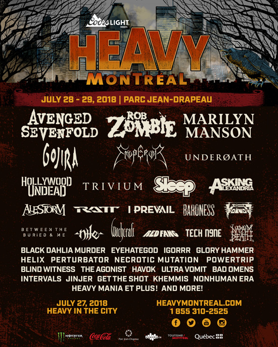 Heavy Montreal 2018 line-up