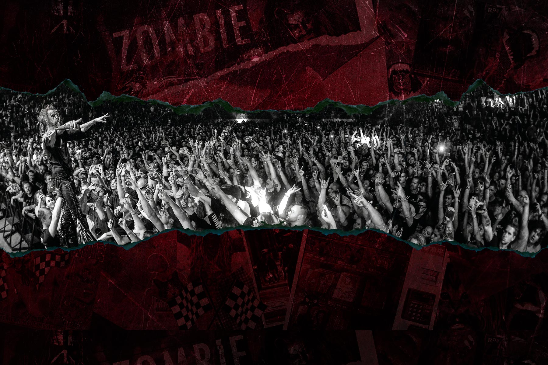 Rob Zombie site background July 2018 Rob Fenn Nineteen-76 Designs