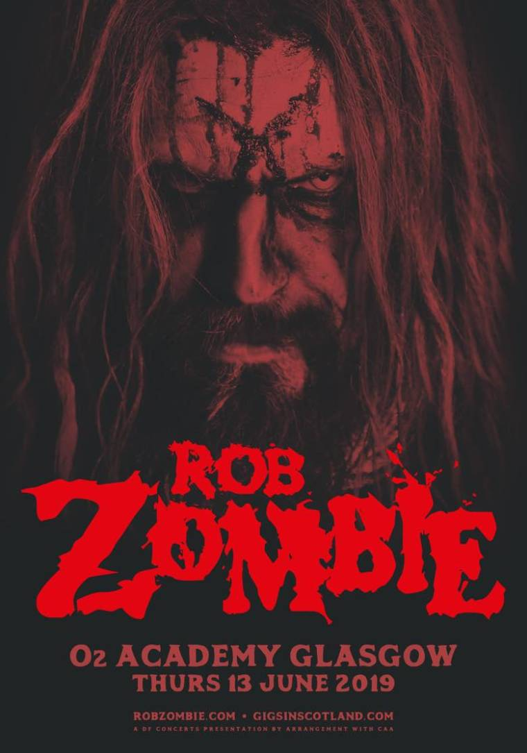 Rob Zombie Glasgow Scotland 2019