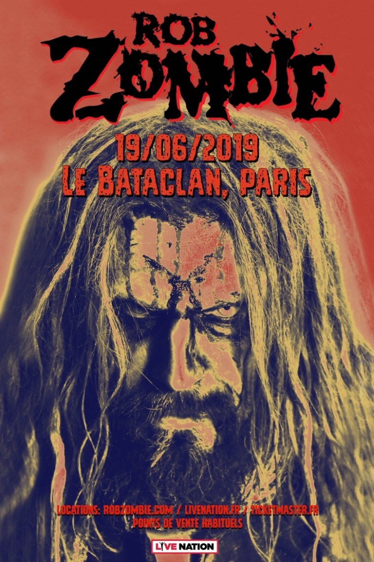Rob Zombie Le Bataclan poster