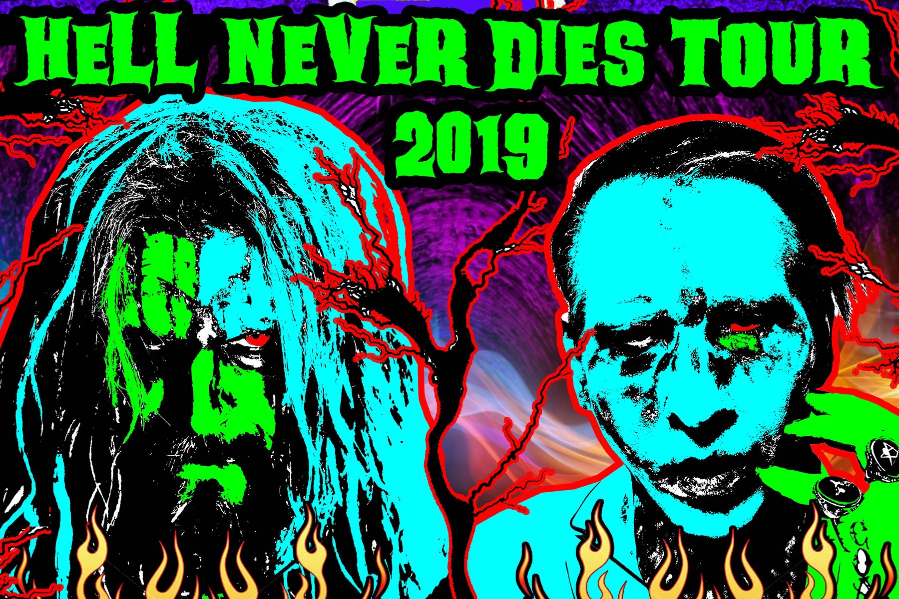 Twins of Evil Hell Never Dies Tour 2019 Rob Zombie Marilyn Manson