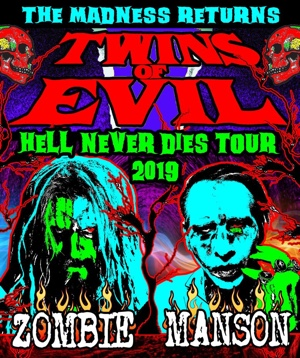 Twins of Evil Rob Zombie Marilyn Manson Hell Never Dies tour 2019