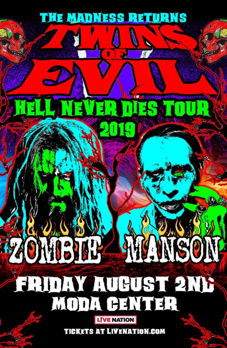 Twins of Evil Rob Zombie Marilyn Manson Auburn 2019
