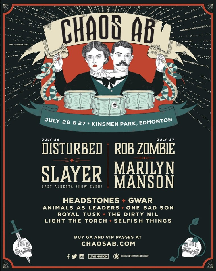 Twins of Evil Rob Zombie Marilyn Manson Chaos AB Festival Canada 2019