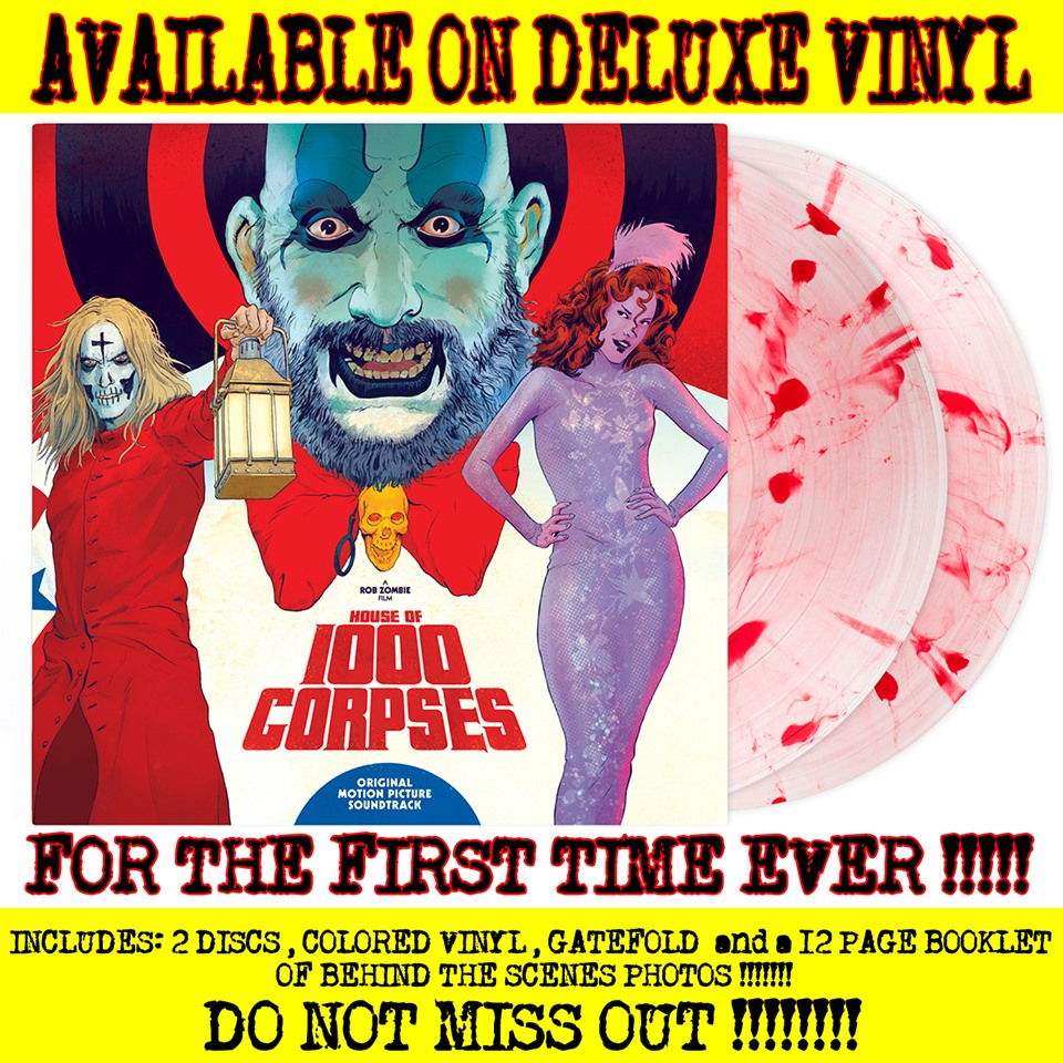 House of 1000 Corpses Waxwork Records Rob Zombie vinyl
