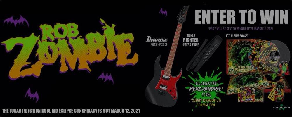 Rob Zombie Lunar Injection Ibanez Contest 2021