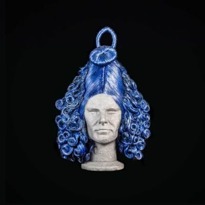 Parrucca fantasy blu
