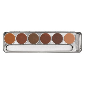 Palette creme camouflage 6 shades Dermacolor