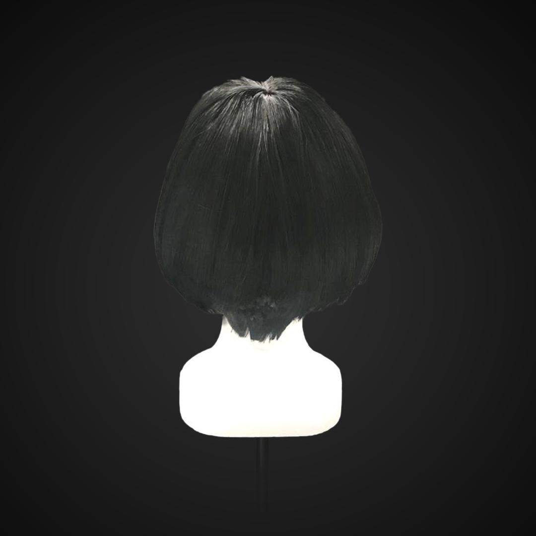 Parrucca nera stile caschetto