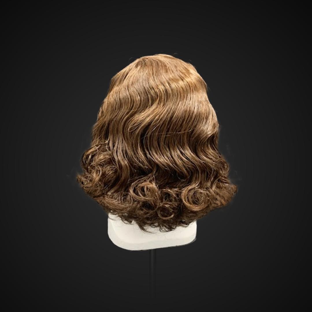 Parrucca castana stile anni '40