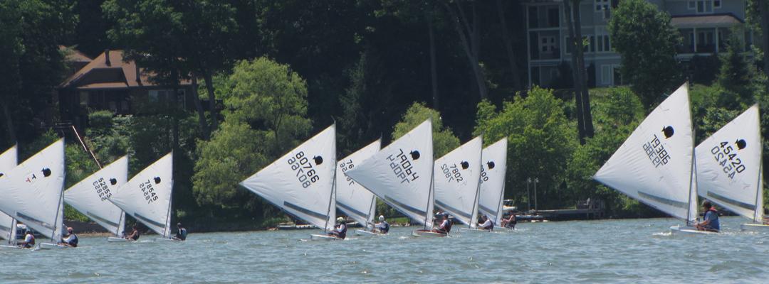 Sunfish Racing on Irondequoit Bay