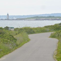 Ram Island light house as seen from the East side of Peaks Island.