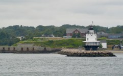 Spring Point light house as seen from the Peaks Island ferry.