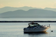 A recreation boat on Lake Champlain.