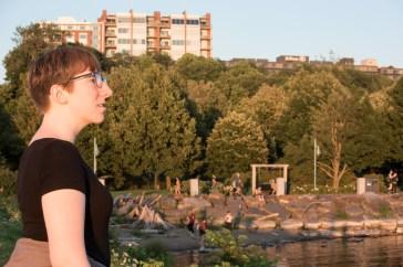 Megan in awe of Burlington's beauty.