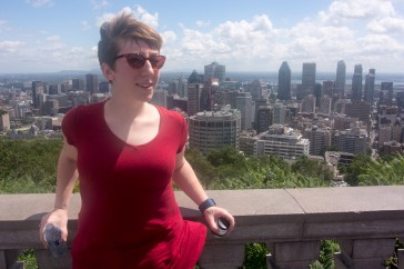 Megan after a jaunty walk up Mount Royal.