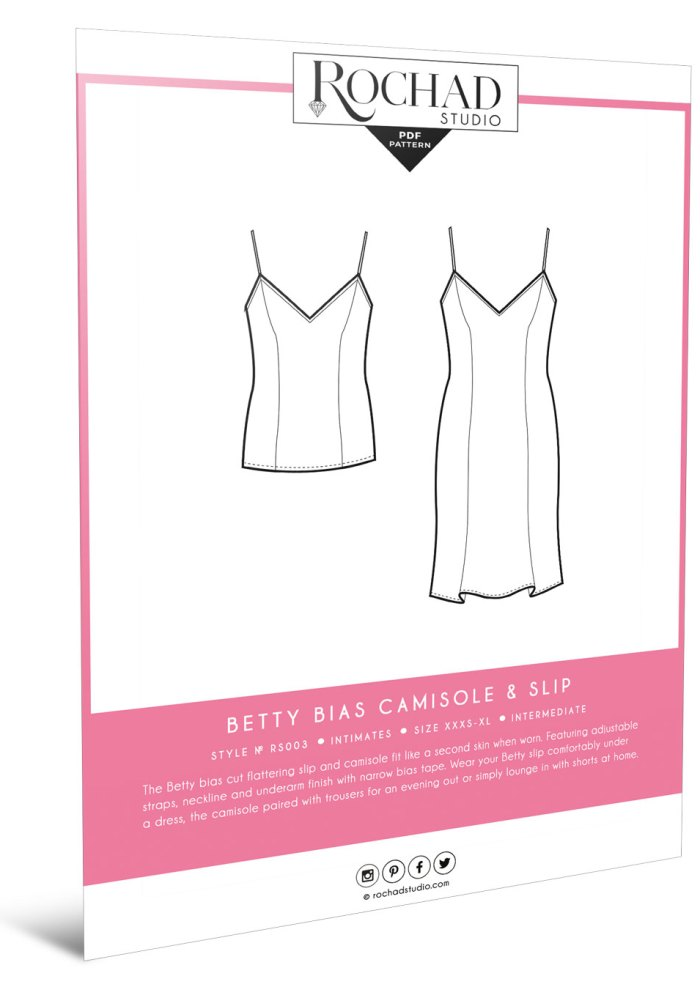 Betty Bias Camisole & Slip - sewing pattern