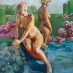 ©RocheGardies %22 les Hespérides%22 huile sur toile 100x80cm 2010 Prix J.P Brenot au salon de Sainte Maure de Touraine