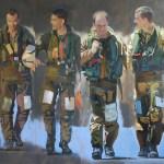 ©RocheGardies Pilotes de chasse, retour de mission - Prix de l'Aéroclub de France, 8ème Salon des peintres de l'air du Bourget 2013