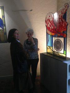 ©RocheGardies peintre ateliers loire  vernissage Exposition Chartres en vitrail  galerie du vitrail 2016 Pierre Carron, Didier Sancey, Tetsuo Harada,  Antoine Vincent , Leslie Xuereb.6