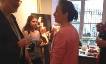 ©RocheGardies peintre   expo chez flora auvray arcitecte d'interieur Paris 2016 18