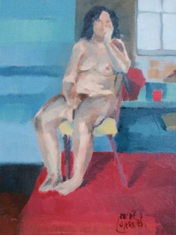 Nathalie 2, huile sur toile 30x40cm