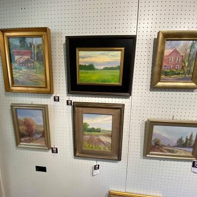 artwork hanging inside the art gallery