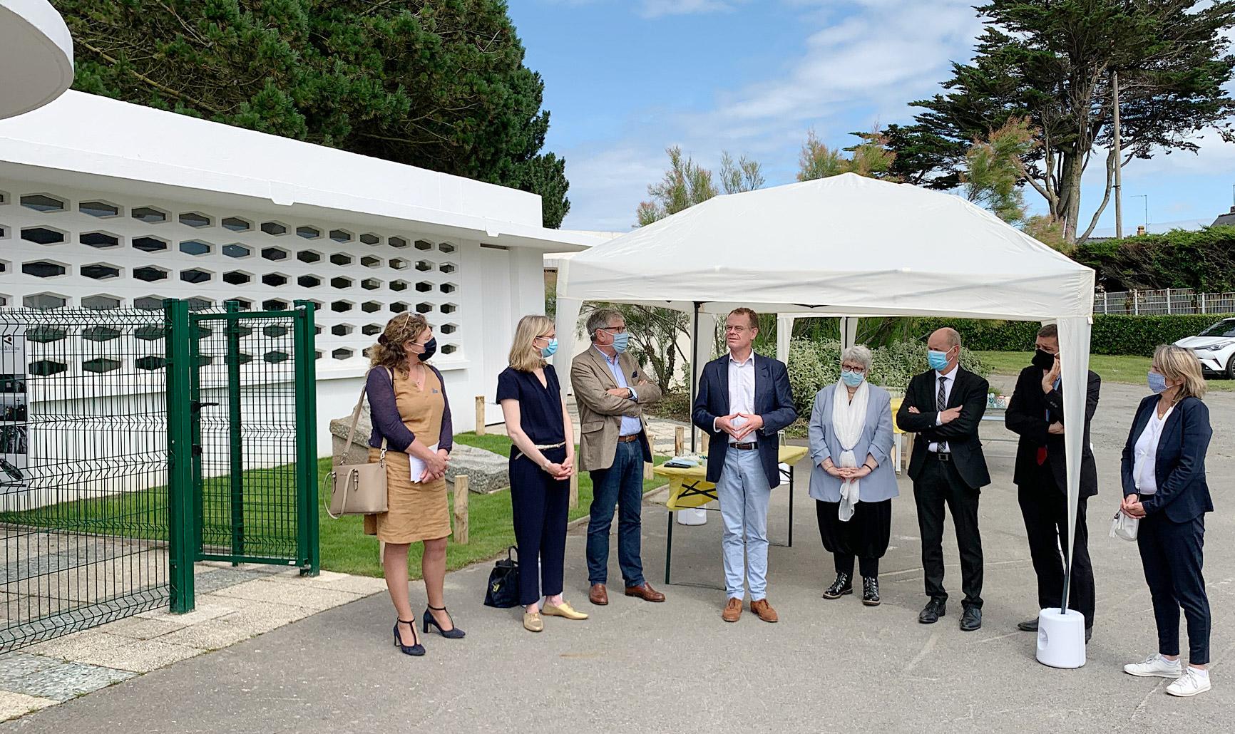 Inauguration du Centre d'interprétation de l'Ermite de Rothéneuf