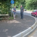 Sylvia and Trevor at Little Delce Wood corner