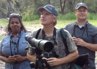 """Clay Taylor spent several years birding in Rochester during college. In 1999, he was hired by Swarovski Optik to be """"their birder"""". He is now the Naturalist Market Manager for Swarovski Optik."""