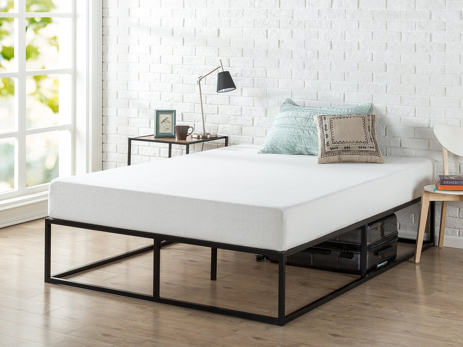 Modern Studio 14 Inch Platforma Bed Frame Mattress