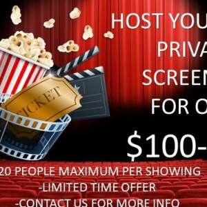 4/24/2021 1:00pm Saturday Auburn Movieplex Private Show