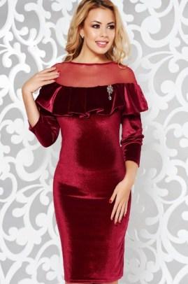 rochii din catifea de ocazie