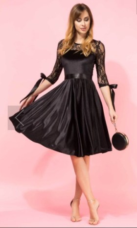 rochii din catifea negre