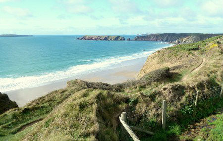 Coastal path above Marloes Sands