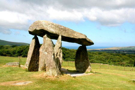 Pentre Ifan, neolithic burial chamber near Newport in north Pembrokeshire, West Wales