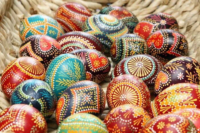 Huevos Pysanky, huevos de Pascua de Ucrania Malyovanky