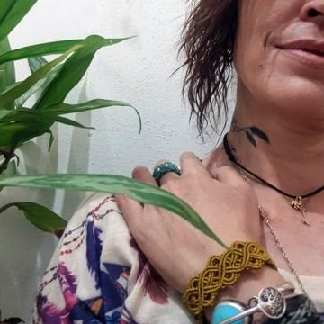 pulsera micro macramé nudo celta Rocio Casas