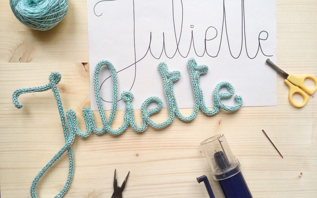 DIY Le Tuto Prnom Tricotin Et Toutes Les Astuces Pour