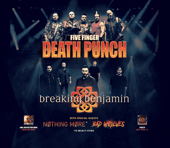 Five Finger Death Punch & Breaking Benjamin to Co-Headline Summer Tour