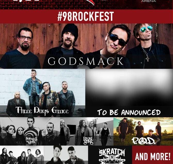The lineup for Tampa Bay's 2019 98Rockfest has been announced.