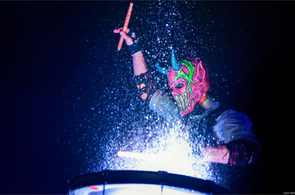 Mushroomhead brings blacklights and water drums to Ziggy's in Winston-Salem, NC.