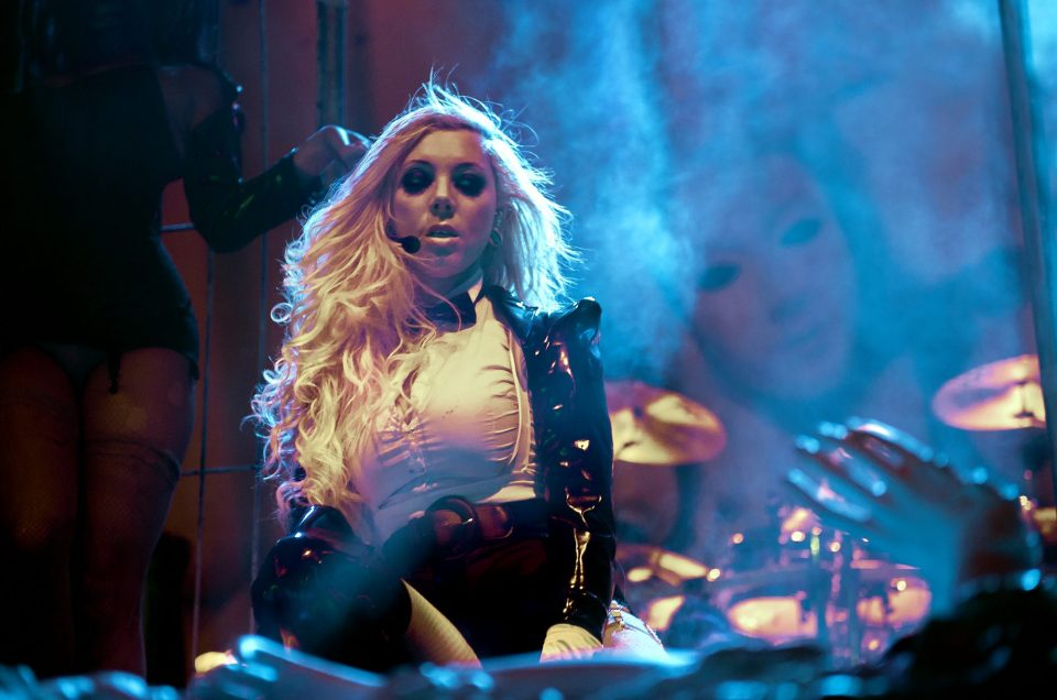 Maria Brink of In This Moment headlining 2014 Hell Pop Tour II.