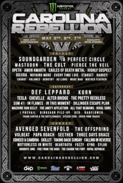 7th annual Carolina Rebellion announces lineup for 2017.