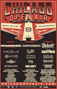 The full lineup has been announced for the first ever Chicago Open Air 2016 music festival.